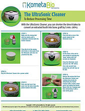 Ultrasonic for shortening cleansing time